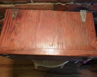 Primitive Wooden Box, Dynamite box, Antique dynamite box, 1930's wooden box, lidded wooden box