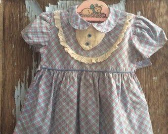 Darling Little Girl's Vintage Cotton Dress