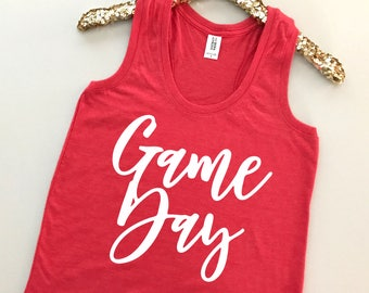 Game Day Tank Top - Game Day Shirt - Football Tank - Football Mom Shirt - Football Shirts for Women - Game Day TShirt -Sunday Football Shirt