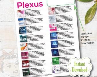Plexus Product Flyer  - INSTANT DOWNLOAD