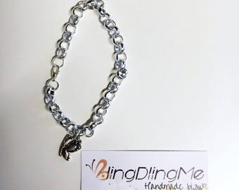 Chain bracelet with butterfly charm