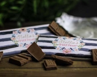 Bridal Shower Chocolate Wrapper - Printable