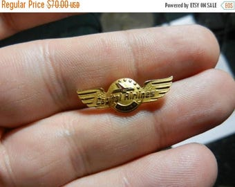 Summer Sale Vintage 10k Gold 5 Year Capital Airlines Wings Pin Badge