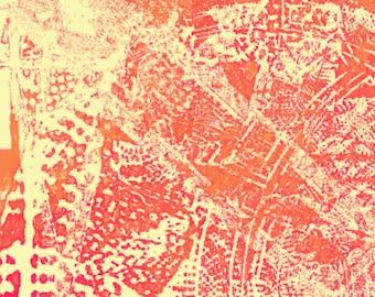 Aztec Summer - Digital Art printed on canvas