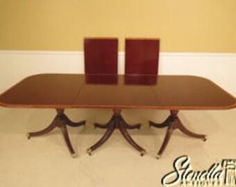 L38936E: Custom Made English Mahogany 3 Part Banquet Dining Table