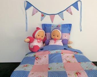 Dolls cot quilt set | Etsy : dolls pram quilt sets - Adamdwight.com