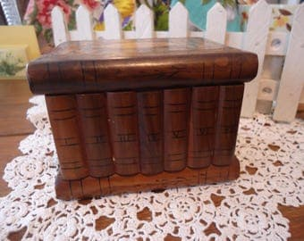 Antique Inlaid Wood Marquetry Puzzle Box Jewelry Box Handmade Collectible Hidden Compartments  Italian