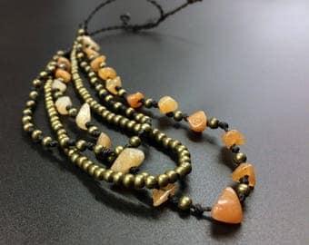 Ankle bracelet of Cornaline