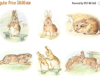 "Story fierce bad rabbit by beatrix potter needlepoint Counted Cross Stitch Pattern modern pattern - 17.71"" x 11.79"" - L1156"