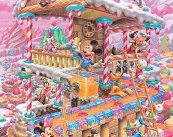 "Disney party cross stitch disney Pattern needlecraft disney needlepoint needlecraft pdf chart - 11.79"" x 17.00"" - L1038"