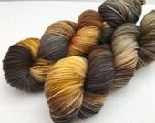 Hand dyed yarn Dandy sock -'Safari'