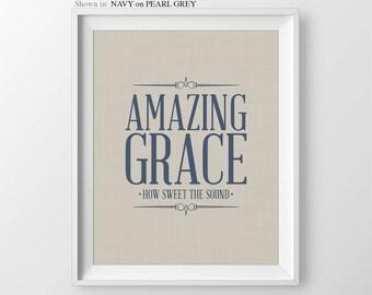 Christian Hymn Amazing Grace Wall Art Christian Decor Amazing Grace Sign Christian Gifts Hymn Wall Art Hymn And Verses Religious Bible Verse