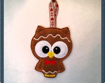 Supercute gingerbread owl decoration