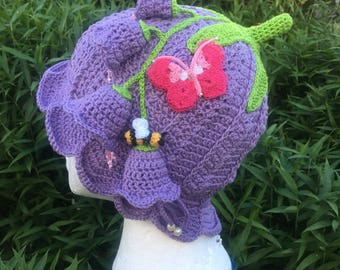 Summer panama crochet flapper hat