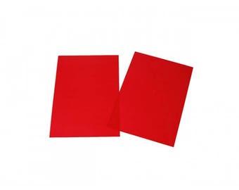 Plastic crazy red 29x20cm
