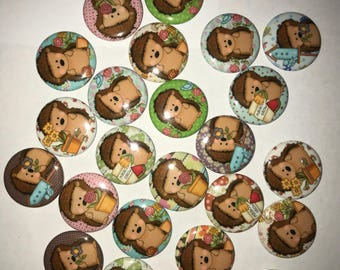 Hedgehog magnets (4)