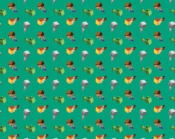Minecraft Fabric Mojang Minecraft Day Mobs Video Game Cotton Fabric Springs Creative