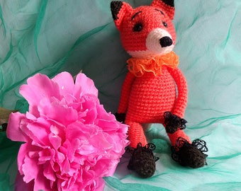 Amigurumi toy,Crocheted toy,Amigurumi fox,gift idea,for children,handmade