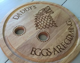Personalised Wood Egg Board, Game of Thrones, Fathers day, Birthday, Gift, Unique