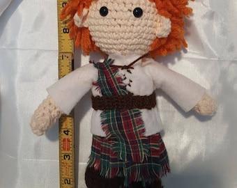 Outlander Jamie Fraser Crochet Amigurmi Doll