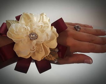 Red Wine Brooch Corsage