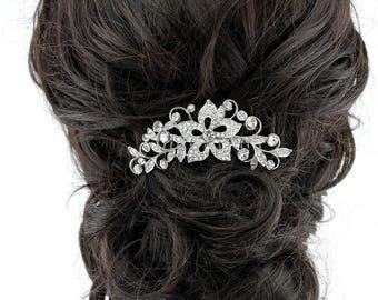 Rhinestone Bridal Hair Comb, Vintage Glam Wedding Headpiece, Bridal Hairpiece, Wedding Hair Comb, Bridal Hair Clip, Bridal Hair Accessory