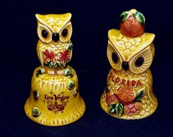 Vintage owl bells-old las vegas-florida bell