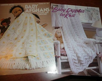 Leisure Arts Baby Ripples & Baby Afghans Pattern Leaflets