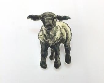 Black Face Lamb Brooch