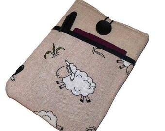 iPad mini 4 case, iPad mini cover, iPad mini sleeve, ipad mini 2 sleeve, iPad mini Pouch, Sheep pocket, Padded case ipad mini, Sheep Fabric
