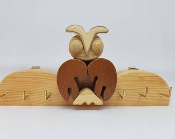 Key hook - owl - key storage - key hanger - key tidy - home - storage- hallway