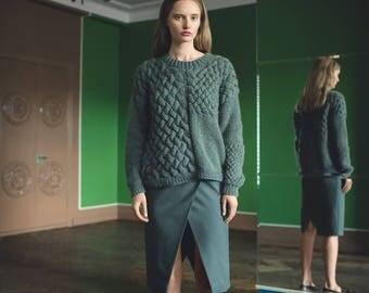 Wool Alpaca Heartbreaker Sweater