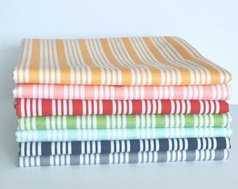 Fat Quarter Bundle The Good Life by Bonnie and Camille for Moda- 7 Fabrics Stripes