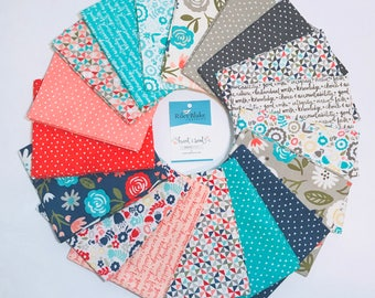 Fat Quarter Bundle Heart and Soul by Deena Rutter and Seek Good Works for Riley Blake Designs - 18 Fabrics Panels Not INCLUDED