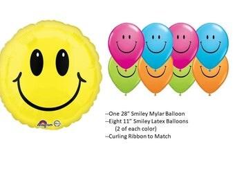 Smiley Face Balloon Set