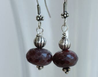 Semiprezioni Ruby Earrings and silver Oriental nights