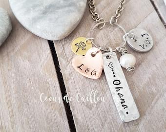 Personalized Ohana necklace, family