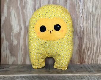 Lemon Poppy Seed Huggle | Cute Monster Plush, Cute Stuffed Toy, Stuffed Animal, Handmade Plush Toy