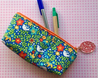 Pen and Pencil Pouch in Vintage Floral