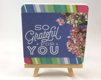 Grateful Wooden Sign - Gratitude Gift - Thankful Wood Sign - Friendship Quote - Gratitude Sign - Office Decor For Women - Gratitude Quotes