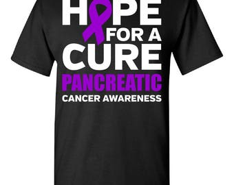 Hope For A Cure, Pancreatic Cancer Family Awareness Tshirt- Tee Gift Idea