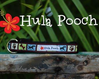 """Dog Collar """"Dogs & Bones""""  - Small Dog Collar, Medium Dog Collar, FREE SHIPPING, Adjustable"""