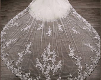 Wedding Veil, Bridal Veil, Lace Cathedral Veil