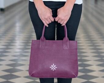 Woman handbags, Valentine's Day gift, modern design handbag, purple bag women, modern evening textured leather purse  - ready to ship