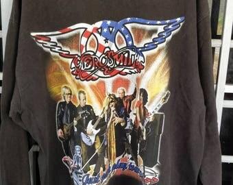 Rare Let push Play tour 02 aerosmith x stone temple pilot long sleeve shirt