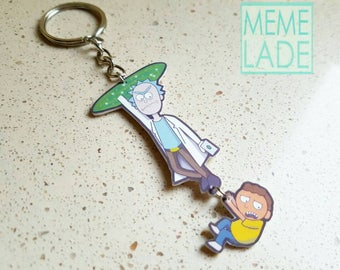 Rick and Morty Cameo Necklace Pendant