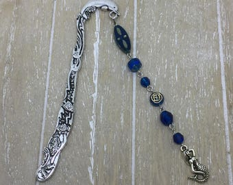 Bookmark blue mermaid