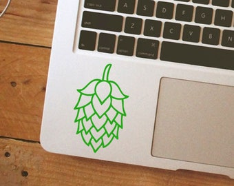 Hops flower sticker, hops flower decal, Laptop Sticker, Vinyl Decal Sticker beer sticker