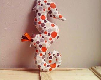 Blanket my round Orange seahorse for children, babies