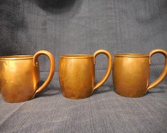 Vintage Copper Barrel Mugs